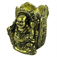 IGod Feng Shui Laughing Buddha With Pen Stand Showpiece Figurine