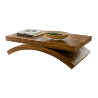 Afydecor Beige Coffee Table With Concave Legs