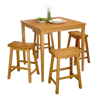 Afydecor Dinitte Set With Bar Stools In  Beige