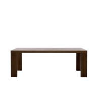 Afydecor Dining Table With Linear Formation In Brown