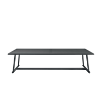 Afydecor Surface Dining Table With Inclined Legs In Dark Gray