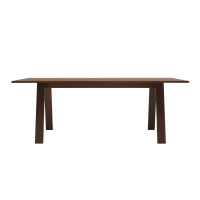 Afydecor Tressle Styled Dining Table In Brown