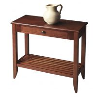 Afydecor Console Table With Shallow Drawer In Brown