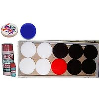 Carrom 23 Acrylic Coins And 2 Powder Set With 2 Strikers