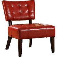 Afydecor Midcentury Modern Slipper Chair In Red