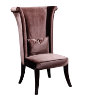 Afydecor Classic Armless Chair In Brown