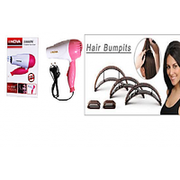 NOVA FOLDABLE STYLISH HAIR DRYER WITH HAIR BUMPITS FREE