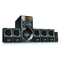 Philips SPA6600 5.1 Channel Speaker (Black) 6000W PMPO Power Brand Warranty