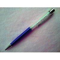 P-16 White Crystal Oem Lady Laser Engraved Blue Ballpoint Pen
