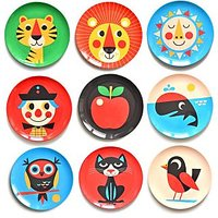 Navratri Gift for Girls - Set of 9 Pcs. Designed Plates