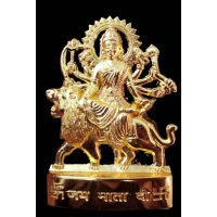 Gold Plated Durga Idol