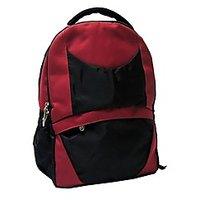 Needbags Reem Red & Black Laptop Backpack