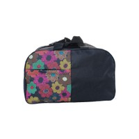400429 Black & Multi-Color Luggage & Travel Bag