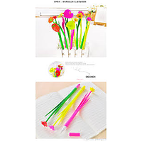 Set Of 12pc Silicone Soft Flower Gel Pen