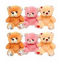 Set Of 6 Cute Teddy Bear - 7 Inch