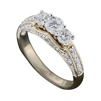 The Trinity Ring - Elegant Diamond Ring In 18 Kt White Gold