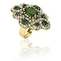 Azra Cocktail Ring For Women_Green_RG0020