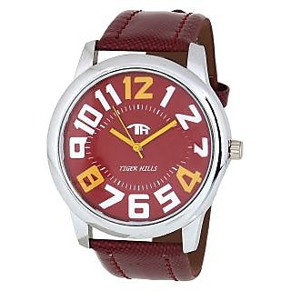 Tigerhills Mens Red And Red Analog  Watch