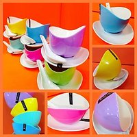 Devnow Pop Color Soup Bowls 12 Pc Set