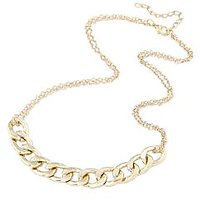 New Hot Big Gold Color Chain Necklace For Girls Women As Per Main Picture Shown.