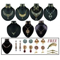 14Fashions 15 Pcs Jewellery Set Combo  -  1000706