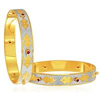 Sukkhi Fascinating Gold And Rhodium Plated Dancing Bangles For Women