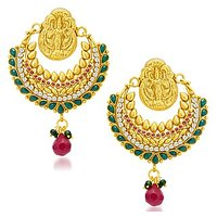 Sukkhi Angelic Gold Plated Temple Jewellery Earring For Women