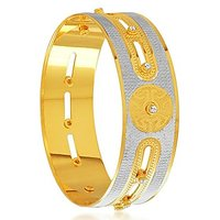 Sukkhi Glistening Gold And Rhodium Plated Dancing Kada For Women