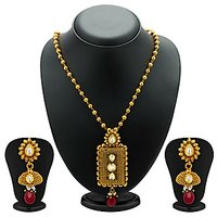 Sukkhi Appealing  Antique Gold Plated Kundan Necklace Set For Women