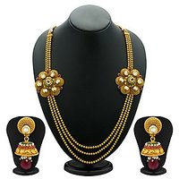 Sukkhi Trendy Antique Gold Plated Kundan Necklace Set For Women