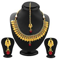 Sukkhi Marvellous Gold Plated Temple Jewellery Coin Necklace Set For Women