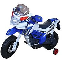 Hum Tum Electronic Ride-On Motorbike With Music And Sound Effects (Blue)