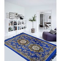 Rg Blue Color Traditional Carpet - 74276950
