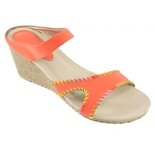 H&H Women's Wedges Fashion Slip-on Sandals (HH446Orange)
