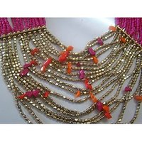 Antique Attractive Fashion Jewelry Party Necklace  Gift With Free Glass Earrings