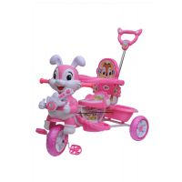 Happy Kids Tricycle With Guiding Handle (Pink)