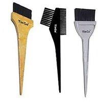 Hair Brushes Set - Hair Dye / Color Brush - MB09 - Set Of 3 - TinGe