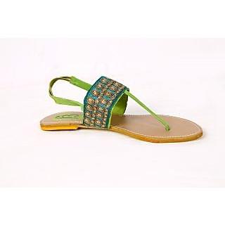 F3 Women's Green Sandals