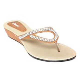 Bata Women Tan Brown Flats