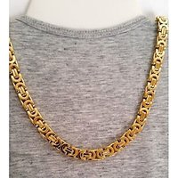 18CT PURE GOLD + RODIUM COATED CHAIN FOR MEN AND WOMEN - 74314900