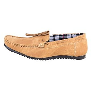 Bhavya Collection Men's Canvas Loafers BTM-062-Brown