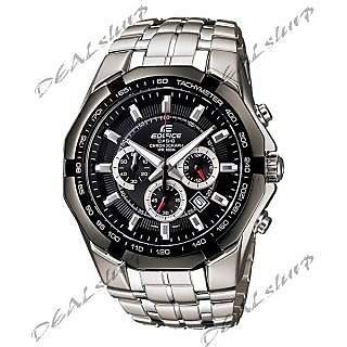 IMPORTED CASIO EDIFICE EF - 540 D-1AV, Black Dial, Steel Chronograph Men Watch (Imported)