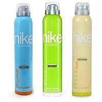 Nike Women Set Of 3 (Casual, Urban Musk, Pure) Deodorants- 200ml Each