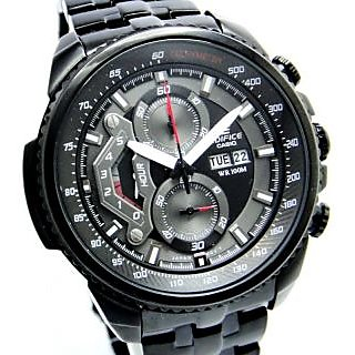 CASIO EDIFICE EF558 BK PREMIUM SPORTS CHRONOGRAPH MENS DAY DATE WRIST WATCH GIFT