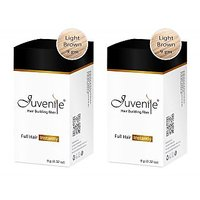 Juvenile Hair Building Fiber Combo Pack Of Two Light Brown 9gm