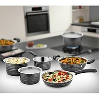 Cookaid Elite Heavy Black Stainless Steel Cookware Set - 5 Pcs
