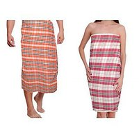 Pack Of 2 100% Cotton Bath Towels