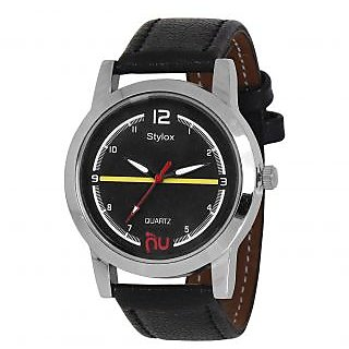 Stylox WH-STX121 Black Dial (STX121) Analog Watch - For Men