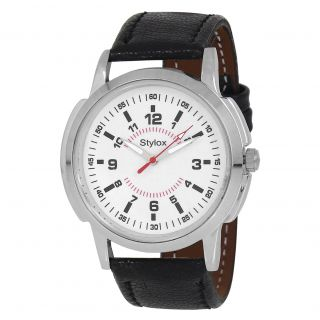 Stylox WH-STX122 White Dial (STX122) Analog Watch - For Men