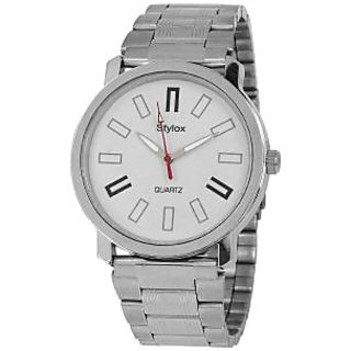 Stylox WH-STX213 White Dial Chain(STX213) Analog Watch - For Men
